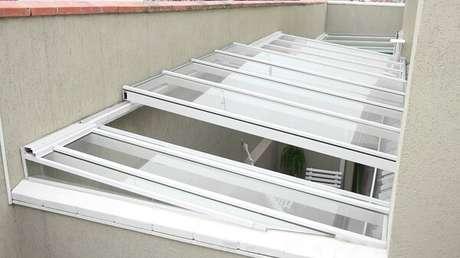 4. Cobertura de vidro retrátil auxilia na ventilação da casa – Fonte: NS Sercon