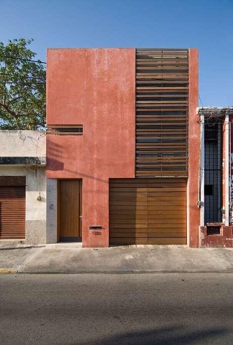 5. Fachada moderna na cor terracota – Foto: ArchDaily