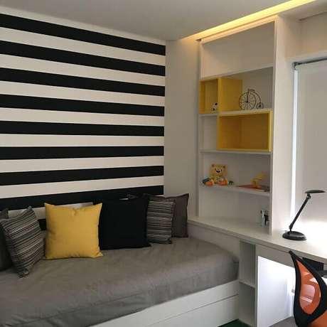 16- Os nichos para quarto infantil organizam todos os pertences da criança. Fonte: Susana Requião