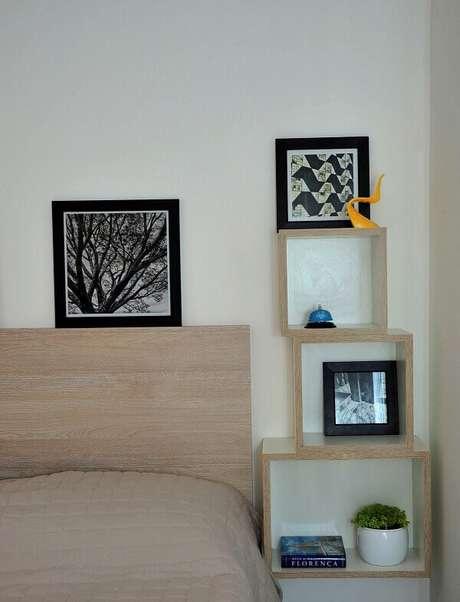 17- Os nichos para quarto permitem várias configurações de decoração. Fonte: PPStudio Espaços Criativos