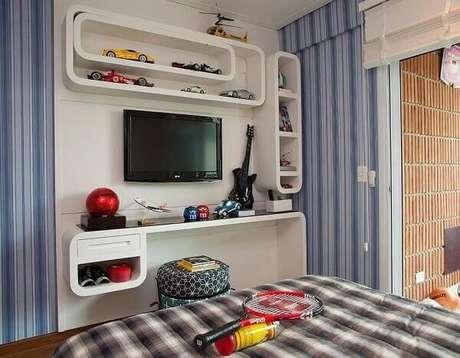 19- Os nichos de parede para quarto podem ser fixados de várias formas. Fonte: Sandra Sanches