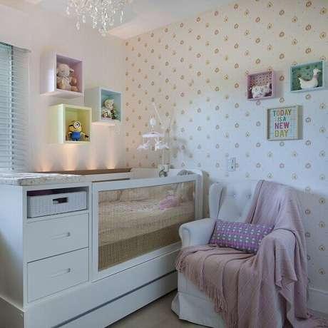 22- Os nichos para quarto de bebê colorido dão graça a decoração. Fonte: Patricia Tavares