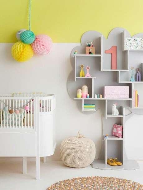 26- Nichos para quarto de bebê podem ter vários formatos conforme a decoração. Fonte: Artesanato Passo a Passo Já