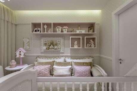 27- Na decoração foram utilizados nichos para quarto retangulares. Fonte: Aaron Guides