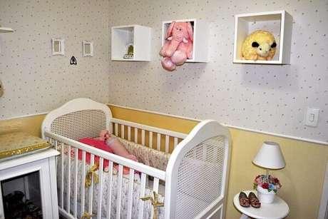 29- Os nichos para quarto de bebê são uma ótima opção para organizar os brinquedos. Fonte: ConstruindoDecor