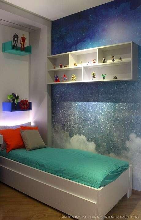 40- Os nichos para quarto de menino abrigam a coleção de brinquedos. Fonte: Carol Shiroma + Luiza Montemór