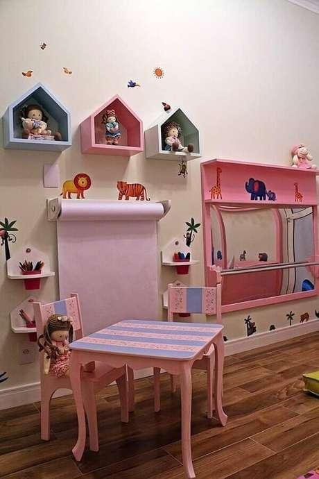 52- Os nichos para quarto infantil são no formato de casinhas. Fonte: Andrea Bento