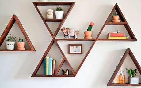 9- Os nichos de parede para quarto tem o formato geométrico. Fonte: Nina Baby Decorações