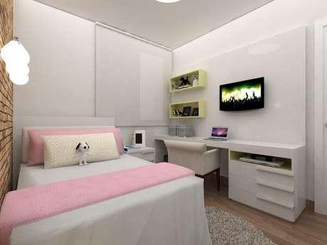 74- Nichos para quarto em formato retangular. Projeto por Amis Arquitetura & Design