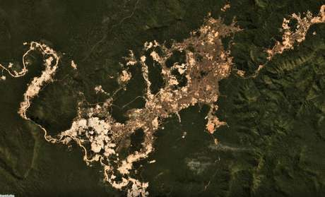 Danos causados pelo garimpo na Terra Indígena Kayapó, no Pará