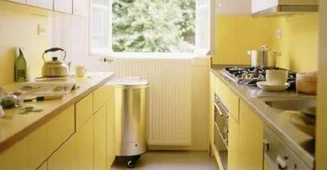 11. Nesse modelo de cores para cozinha foi utilizado o amarelo claro.