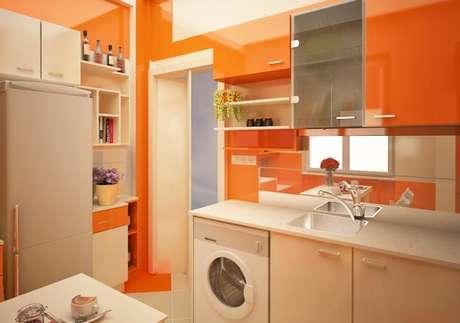 38. Cores para cozinha em tons de laranja.