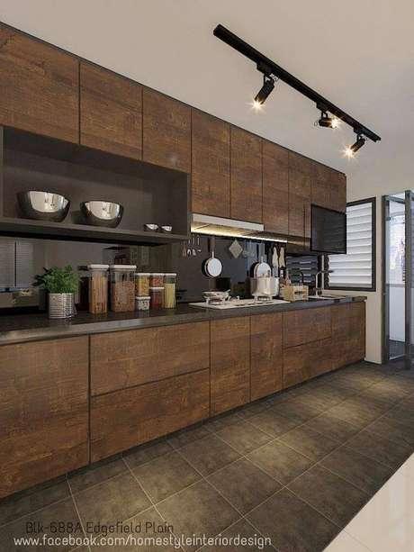 48. Cores para cozinha marrom – Foto: Home Style interior design