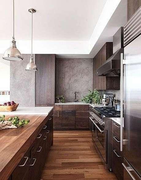49. Cores para cozinha marrom com cinza – Foto: Trend House