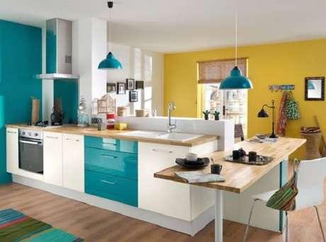 17. Modelo de cores para cozinha moderna e simples.