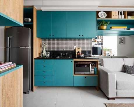 54. Cores para cozinha tifany – Via: Pinterest