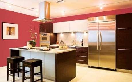 28. Cores para cozinha em tons de vermelho.
