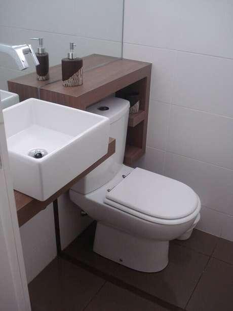 6. A pia de porcelana para banheiro pequeno é um dos modelos mais utilizados – Foto: Webcomunica