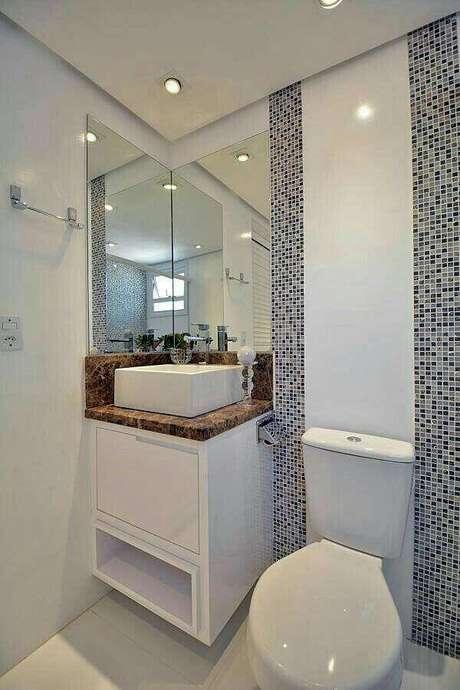 31. Pia para banheiro pequeno e simples – Foto: Pinterest
