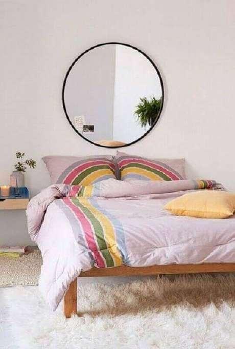 4. Modelos de quarto simples são bem fáceis de decorar – Foto: Pinterest