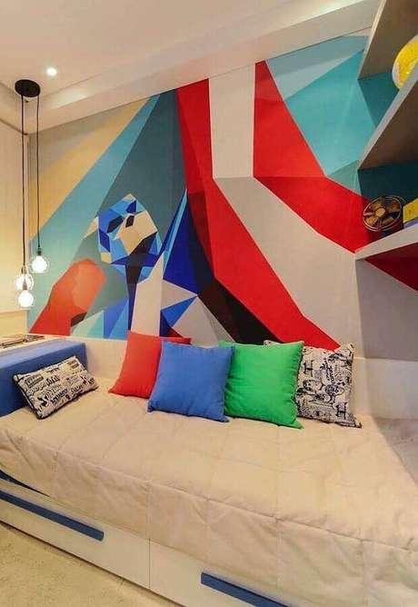 12. Invista em papel de parede para mudar a decoração de diversos modelos de quarto – Foto: Pinterest