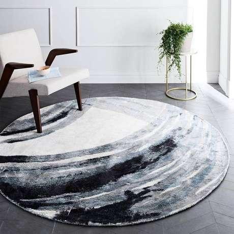 38. Saiba escolher o modelo de tapete redondo para cada estilo de decoração – Foto: West Elm