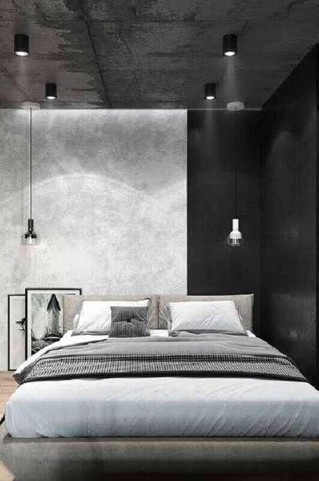 7. A decoração industrial também tem tomado conta de modelos de quarto – Foto: Home Garden And Kitchen