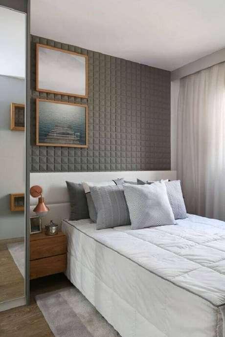 8. Invista em uma decoração atemporal para modelos de quarto moderno – Foto: Sesso e Dalanezi Arquitetura + Design