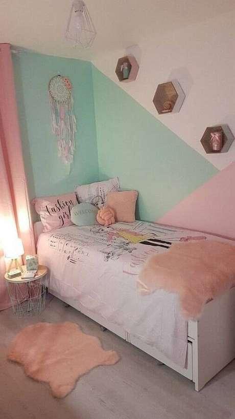2. Modelos de quarto com paredes coloridas são lindos e não precisam de um grande orçamento para a reforma – Foto: Pinterest