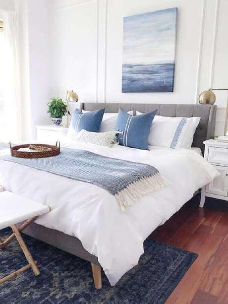 20. Modelos de quarto de casal decorado com estilo clean – Foto: Decor e Design