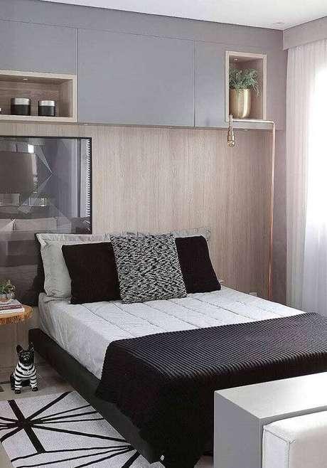 21. Modelos de quarto de casal com móveis planejados – Foto: Home Fashion Trend