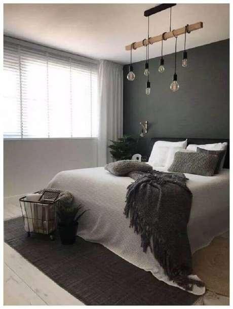 40. Decoração simples e minimalista para quarto de casal – Foto: Webcomunica