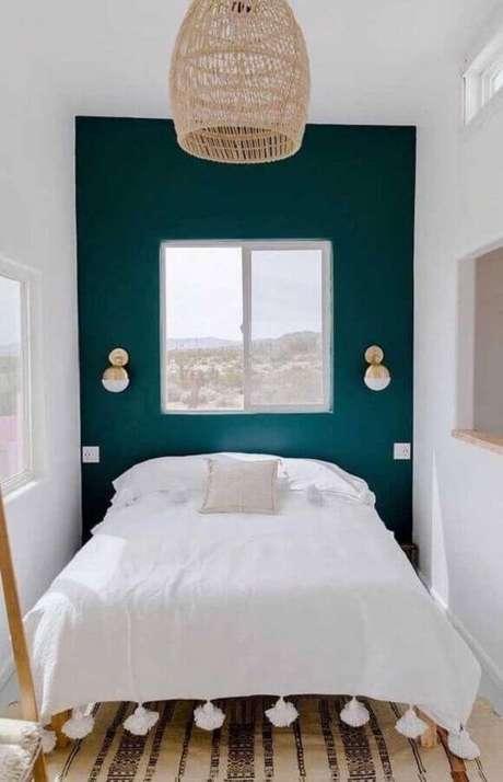 44. É importante saber escolher as cores para fazer a decoração de modelos de quarto pequeno – Foto: Etsy