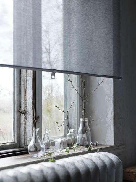 63. Persianas para sala de estar cinza – Foto: Ikea