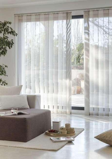 27. Persianas para sala de estar cinza – Projeto: Essenziale