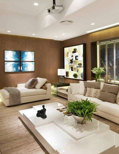 19. Persianas para sala de estar clena e elegante – Projeto: Quitete Faria