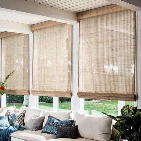34. Persianas para sala de estar rústica – Projeto: Smith and Noble