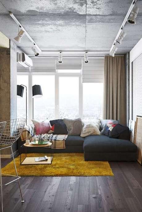 4o. Persianas para sala moderna – Via: Pinterest