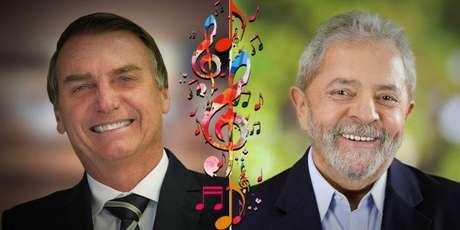 Bolsonaro e Lula polarizam dois dos mais apreciados gêneros musicais no Brasil