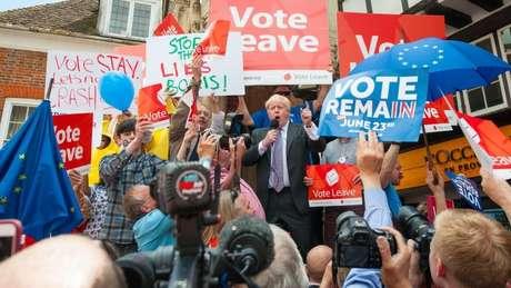 Boris Johnson foi um dos maiores defensores do Brexit no referendo de 2016