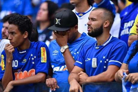 Torcida do Cruzeiro durante a partida entre Cruzeiro e Palmeiras, válida pela Série A do Campeonato Brasileiro 2019 no Mineirão em Belo Horizonte