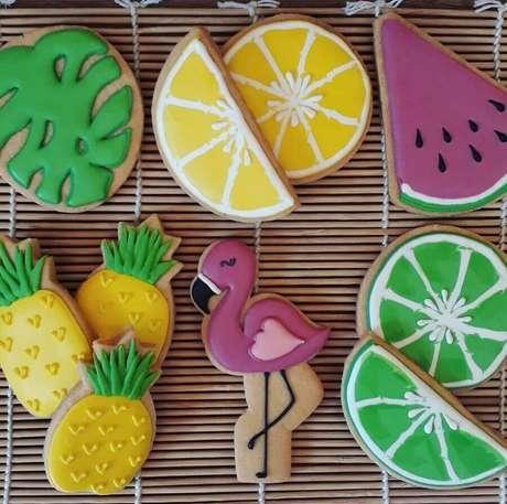 5. Capriche na escolha do cardápio para a festa flamingo infantil – Foto: Segredos de Família Bakery