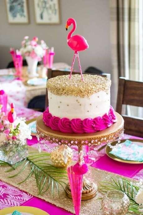 2. Organize a decoração de festa flamingo por etapas – Foto: The Blue Eyed Dove