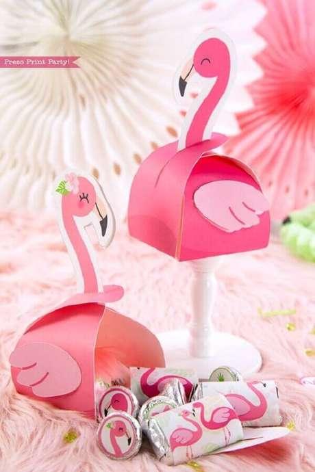 23. Ideia de embalagem super delicada para festa de aniversário de flamingo – Foto: Press Print Party!