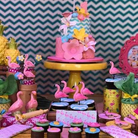 54. Detalhes que fazem a diferença na decoração de festa flamingo infantil – Foto: Lucia Dias Machado