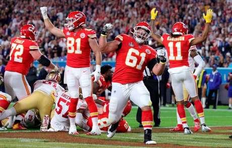 O Kansas City Chiefs é atual campeão da NFL (Foto: JAMIE SQUIRE / AFP)