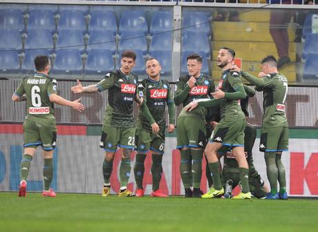 O Napoli sobe para décimo com a vitória (Foto: Reprodução/ Twitter)