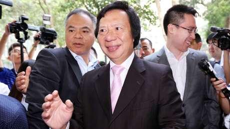 Thomas Kwok foi condenado em Hong Kong por suborno.