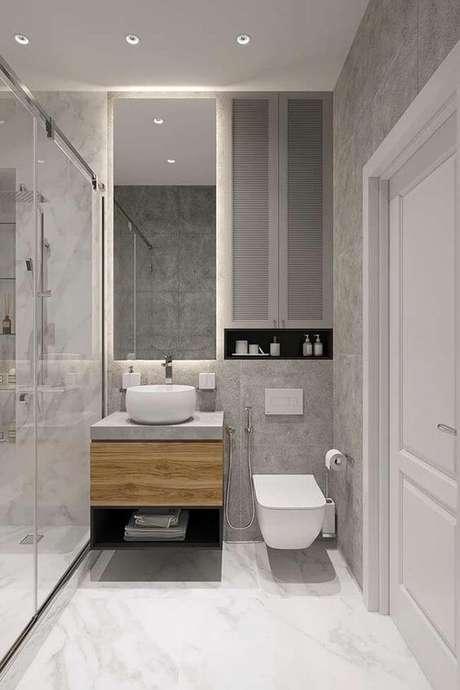38. Cerâmica para banheiro clean – Via: Décor Fácil
