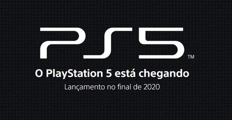 Página oficial do PS5 confirma lançamento para o fim de 2020